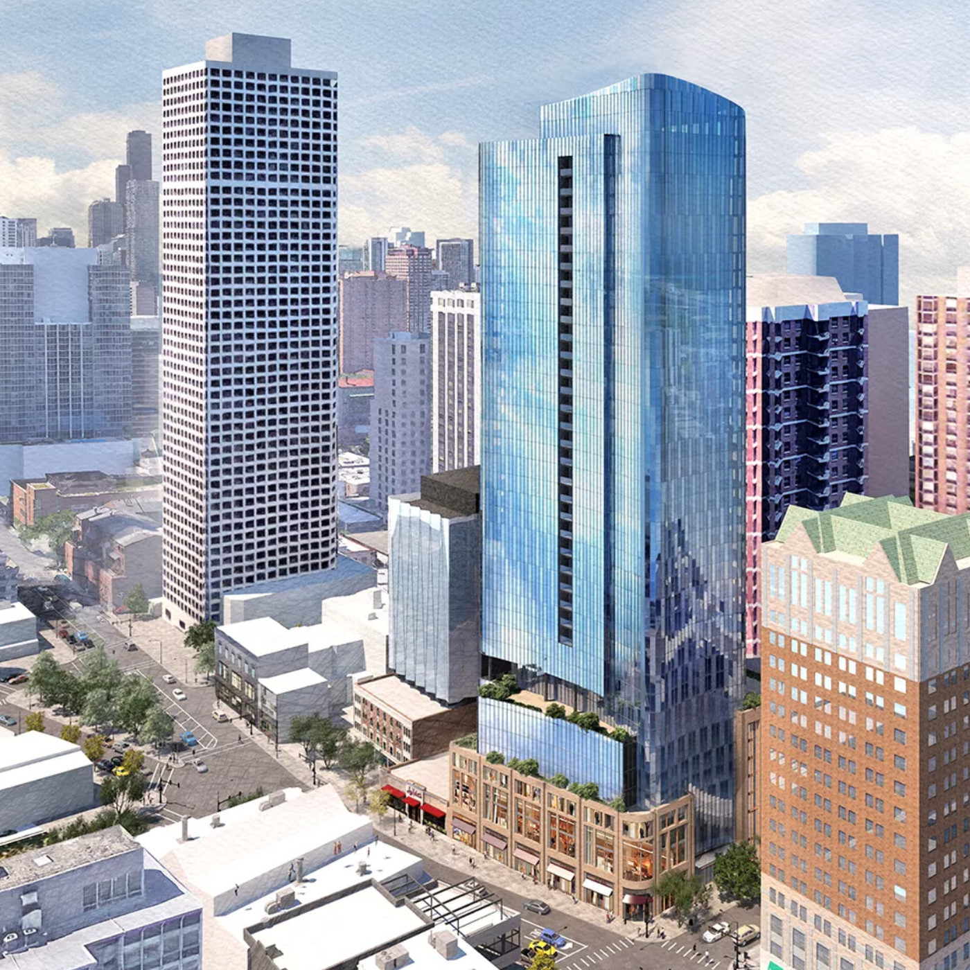Gold Coast apartment tower proposed for Barnes & Noble site