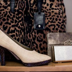 "YSL raffia shoes with a high vamp: ""I love a high vamp,"" Bianchi says."