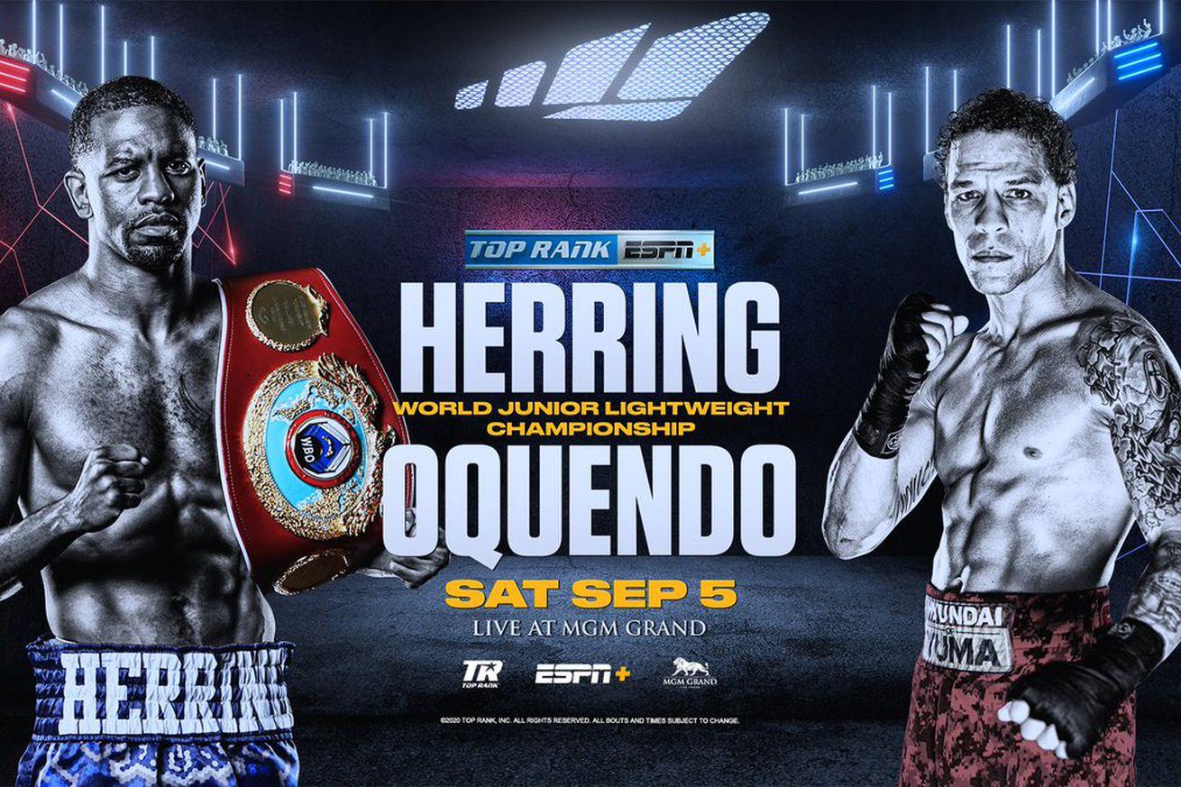 EfVFGsiUEAA8AVG.0 - Herring-Oquendo, Nelson-Ware official for Sept. 5