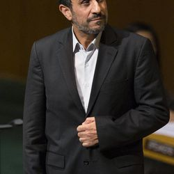 Iranian President Mahmoud Ahmadinejad approaches the podium before addressing the 67th United Nations General Assembly, at U.N. headquarters, Wednesday, Sept. 26, 2012.