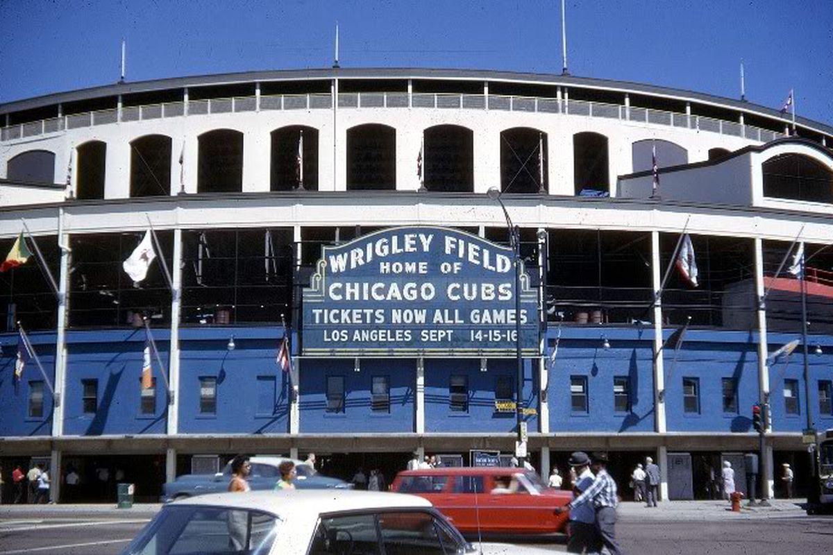 The Wrigley Field Marquee Is Going Green Bleed Cubbie Blue