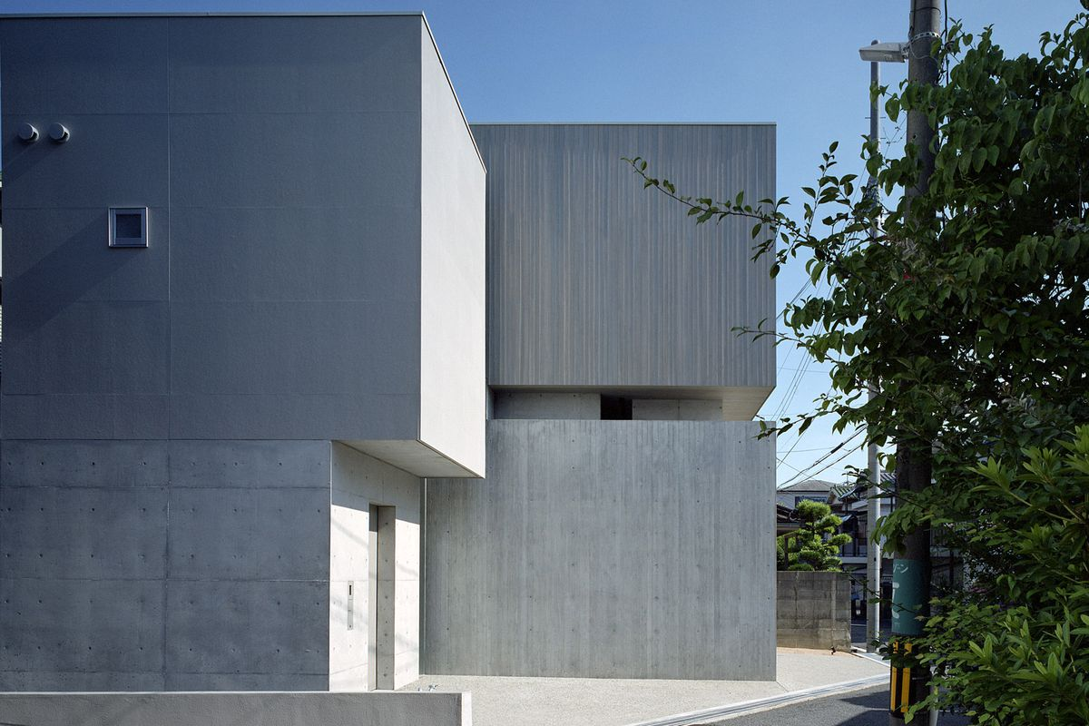 Concrete, windowless house
