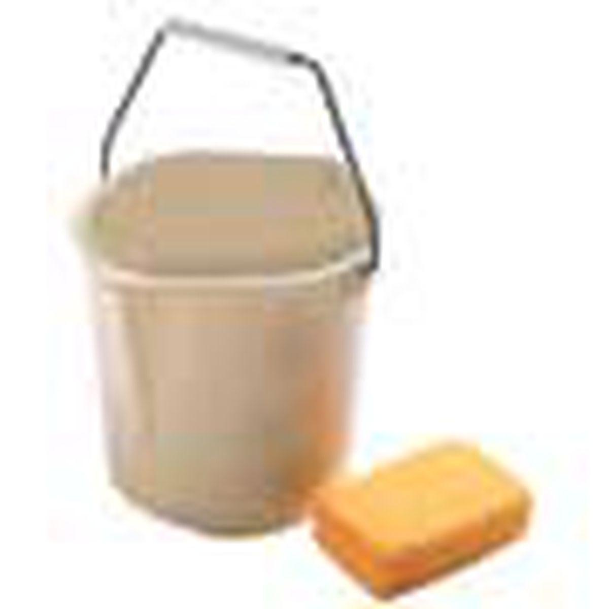 bucket with sponge