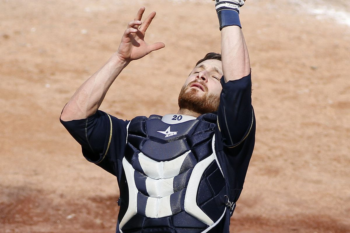 It's a little known fact that Jonathan Lucroy has telekinetic powers.