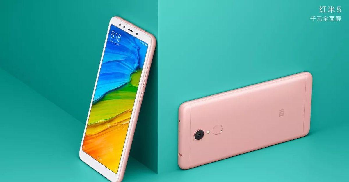 Xiaomi's Redmi 5 phones have 18:9 displays and start at $120