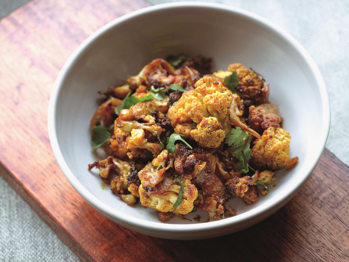 Roasted curried cauliflower from A.O.C. in Brentwood and West Hollywood