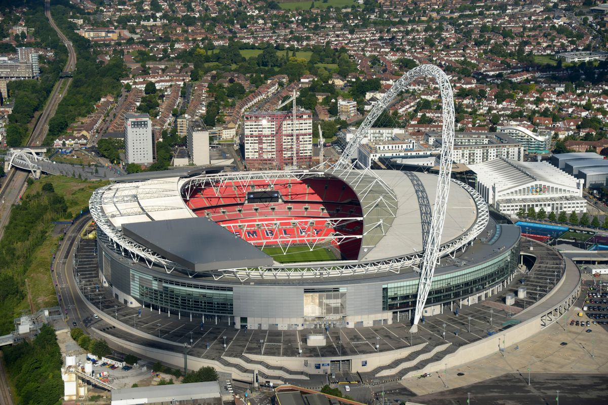 Wembley -- the site of England's friendly versus Brazil.