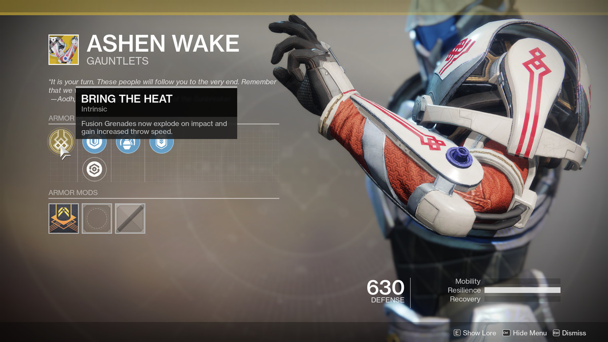 Ashen Wake Exotic Destiny 2