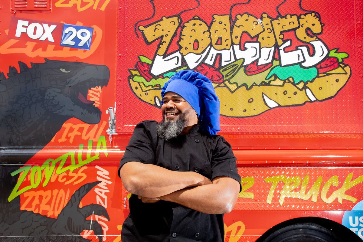Chef Ezell Barnes outside of his Zoagies food truck