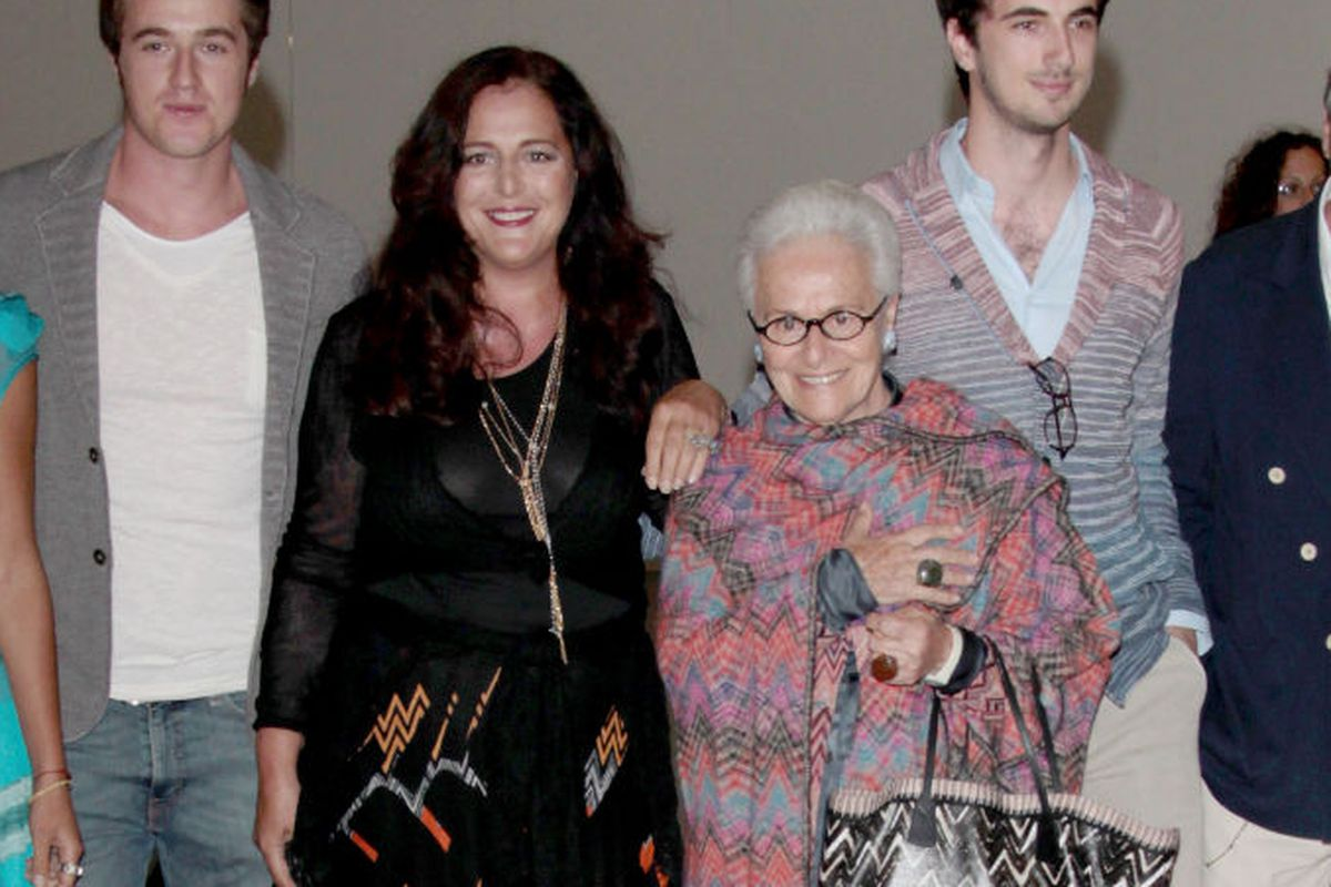 The Missoni family: Margherita (left), Angela (middle), Rosita and Ottavio the elder (front and right), via Getty