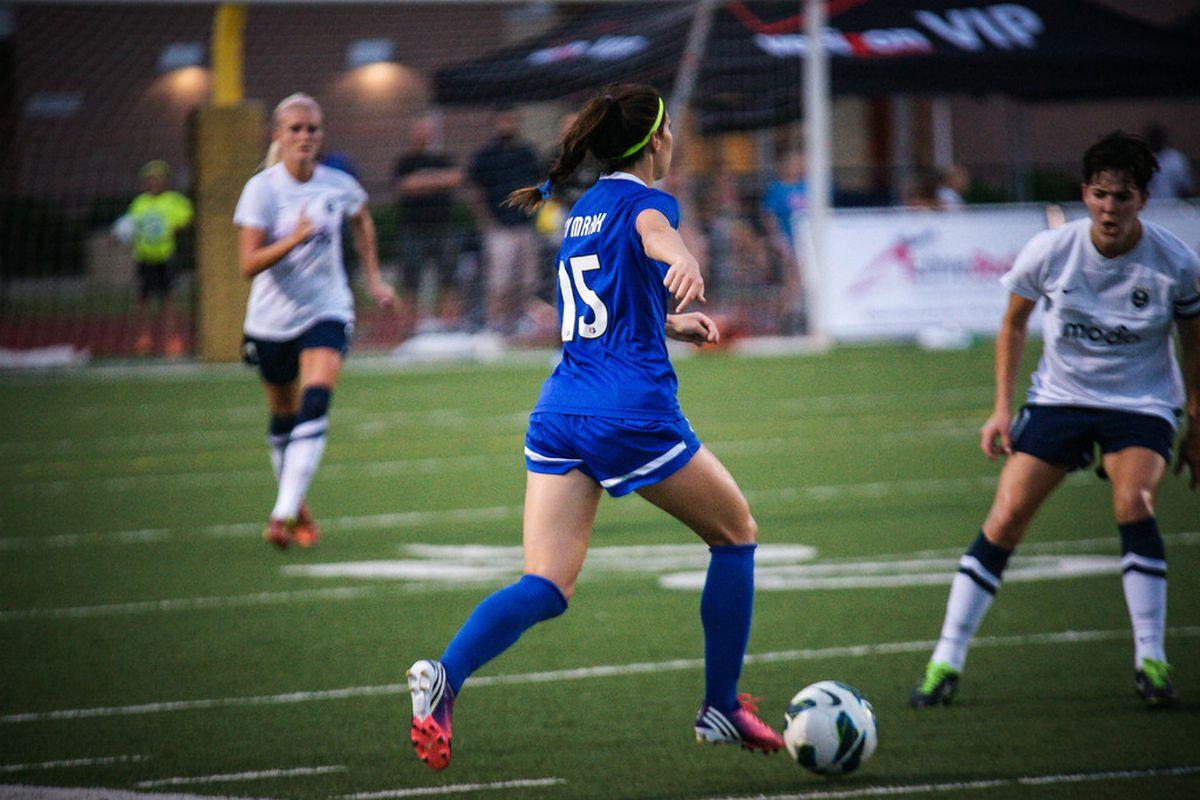 Erika Tymrak has become a key part of the Blues' midfield