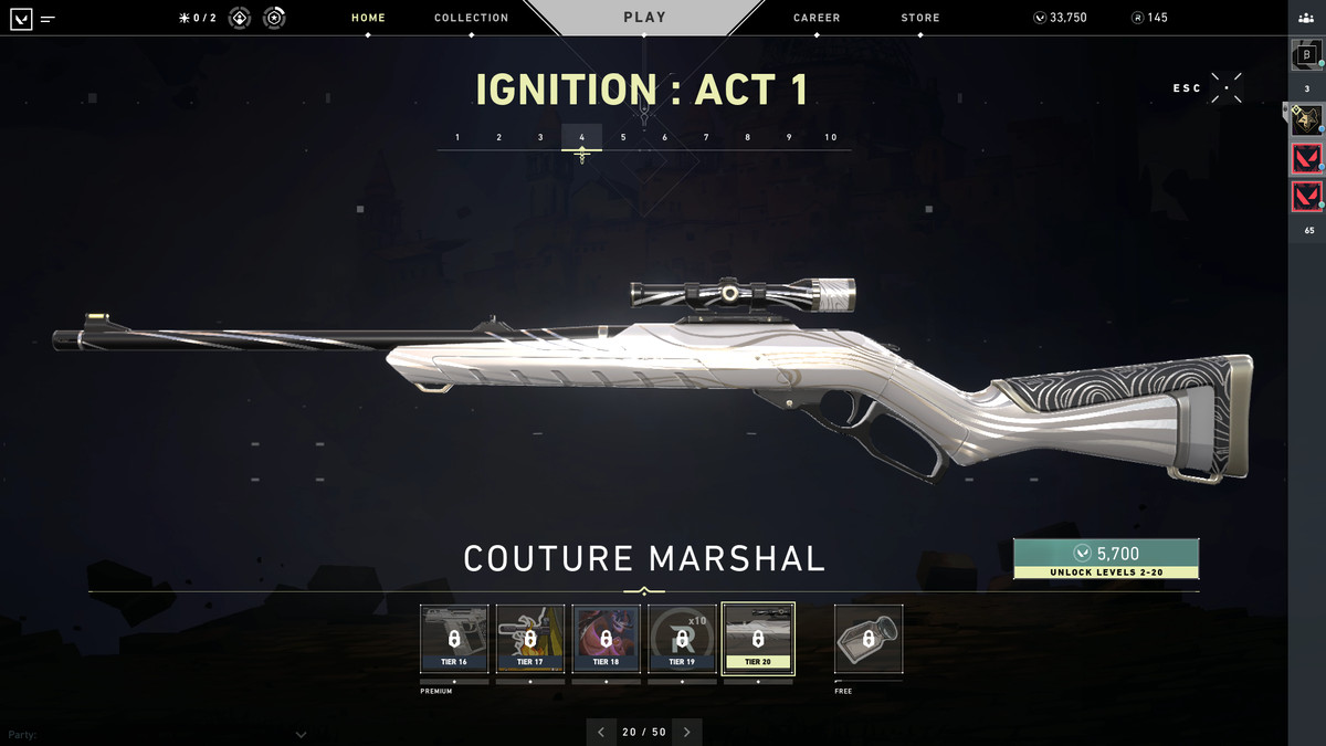 Valorant's Coulture Marshal skin