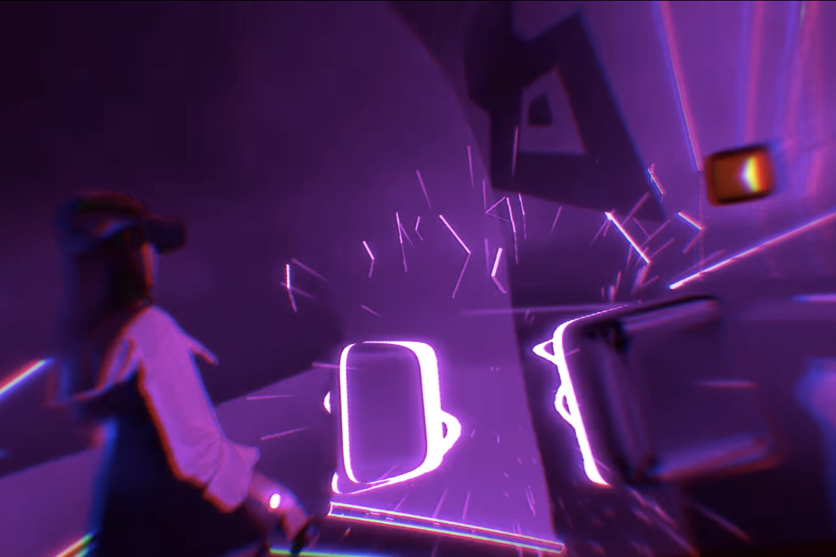 Humans playing VR game Beat Saber move faster than what