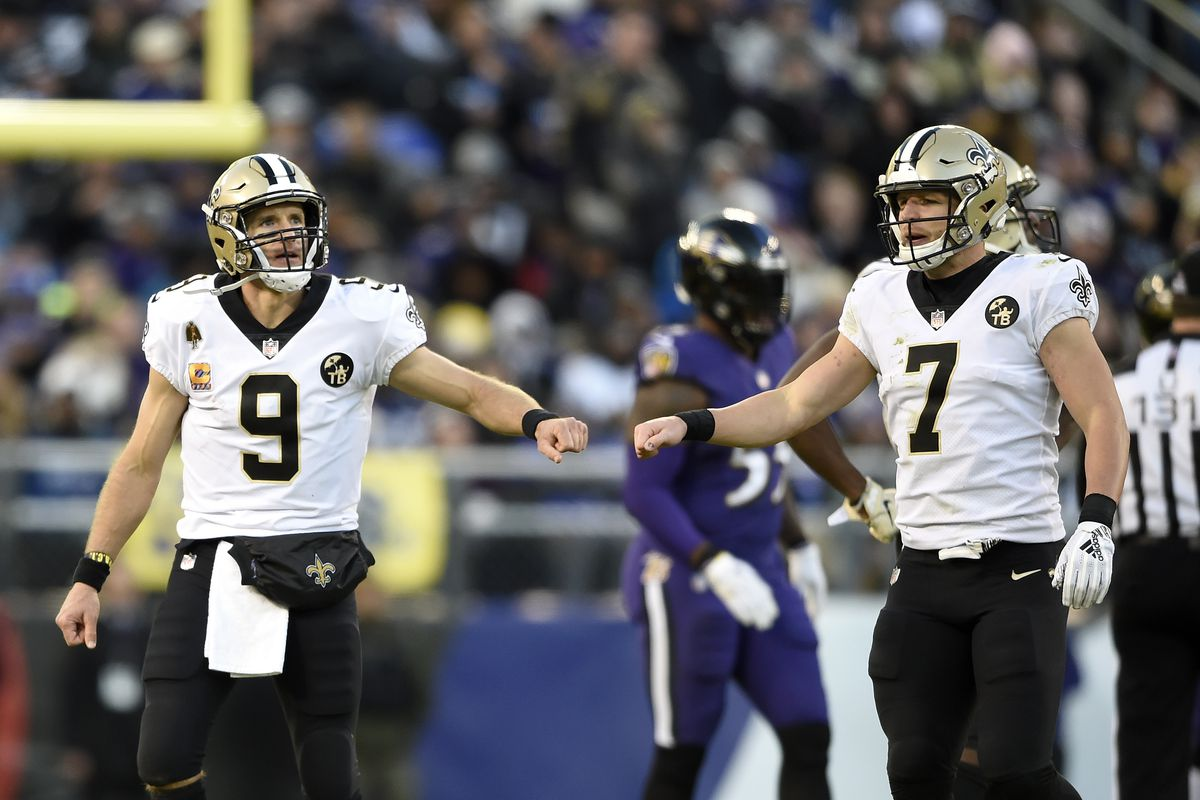 Image result for saints drew brees taysom hill
