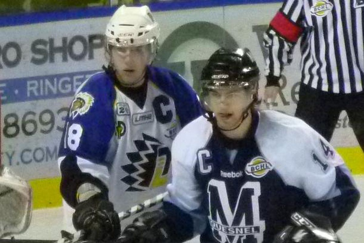 Gerling (left) and Smutek from their time playing in Canada.