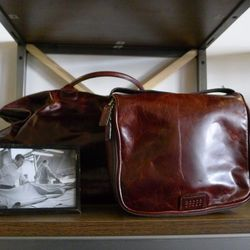 """Leather bags at <a href=""""https://www.mooreandgiles.com"""">Moore and Giles.</a>"""