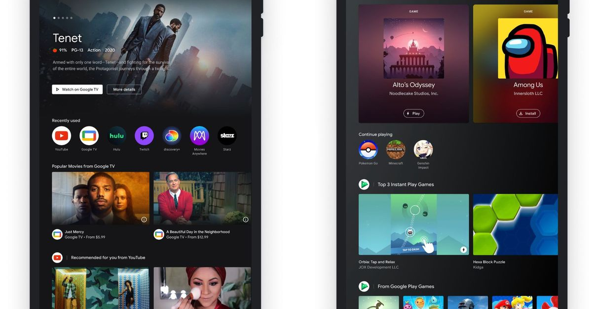 Google's Entertainment Space makes Android tablets look like Google TV – The Verge