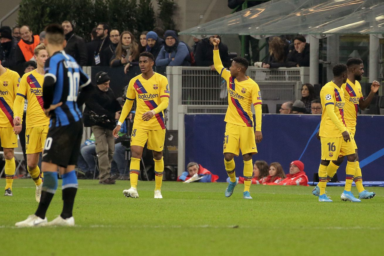 Ansu Fati becomes the youngest goalscorer in Champions League history