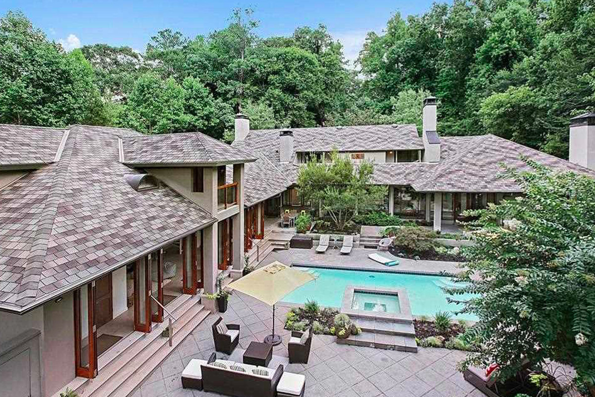 A sweet Buckhead property with a swinging pool area on sale for $2.5 million.