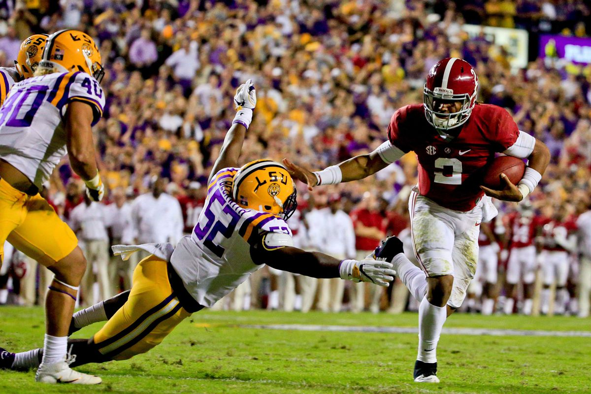alabama and lsu football game