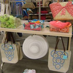 Calypso accessories, including headbands, totes and hats