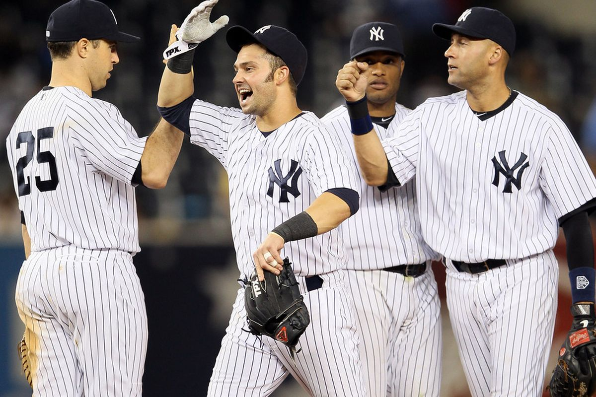 The New York Yankees have a had a lot to celebrate thus far in 2012. Will that continue? (Photo by Elsa/Getty Images)