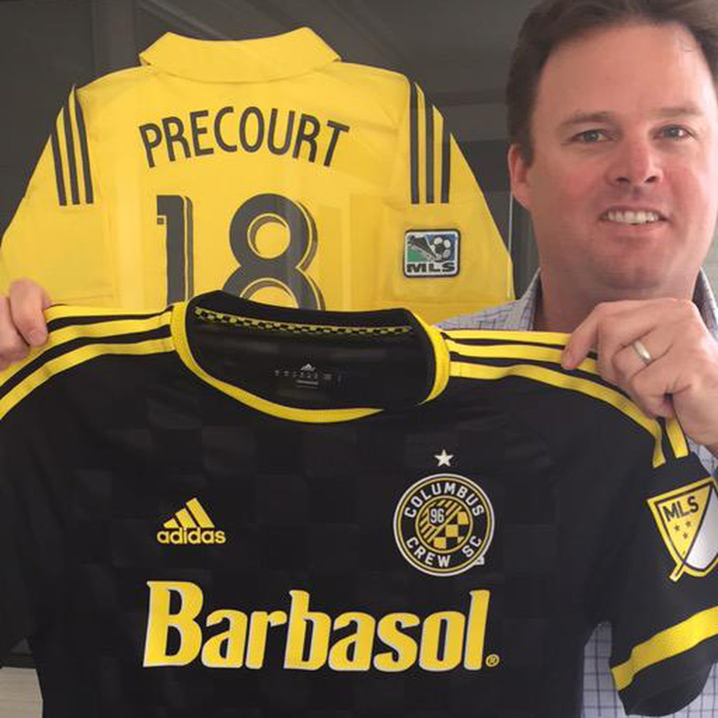 7d03cd6fe8b Quick thinking turns a leak into Crew SC s jersey unveiling ...