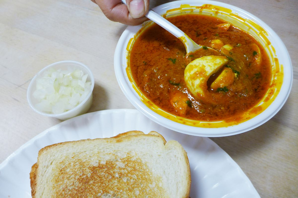 The dish called maniac curry really is maniacally spicy.