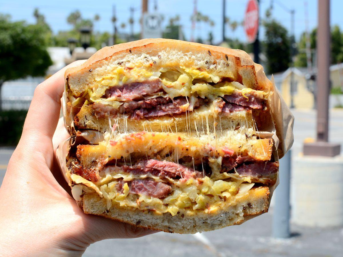 Reuben sandwich from Jeff's Table.