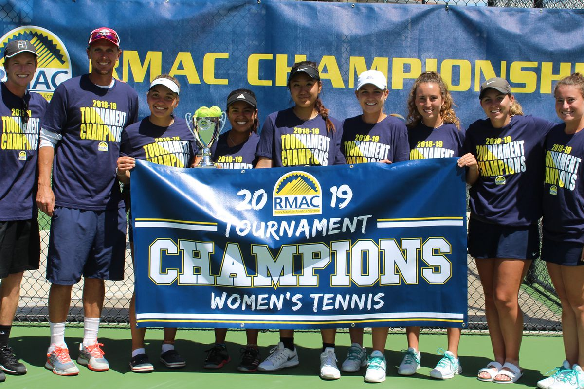 The Dixie State women's tennis team defeated MSU Denver on Saturday to claim the RMAC championship.