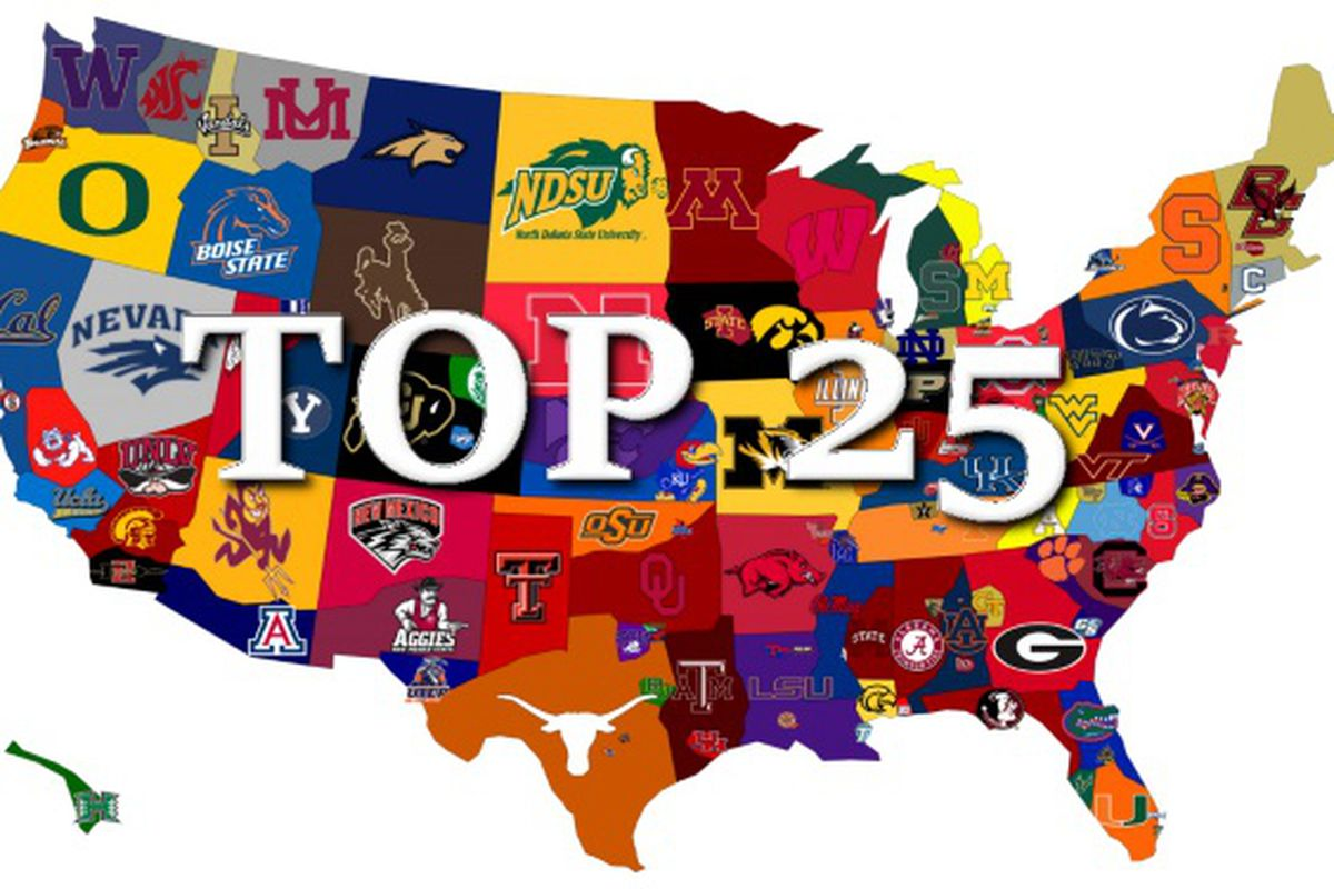 College Football Top 25 AP Poll And ESPN Power Rankings