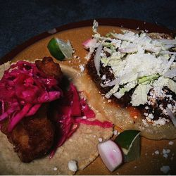 """Baja fish of the day and spicy beef taco at Lone Star Taco bar by <a href=""""http://www.flickr.com/photos/see16design/"""">SEE888</a>."""
