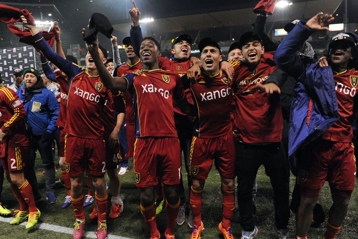 Because remembering the good times never hurts -- Real Salt Lake celebrating victory in the Western Conference championship.