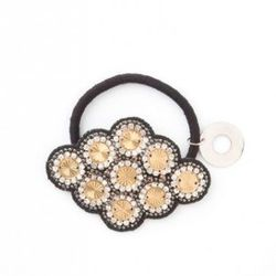 Deepa Gurnami Hair Tie- Lori's Shoes $26<br />Perfect around a sleek ponytail or a loose and low side bun, this hairtie adds a little bit of sparkle without screaming princess. This piece can work double duty as a bracelet while it hangs out on your wri