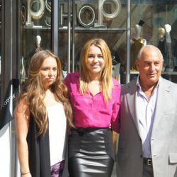 Miley Cyrus with Sir Philip Green