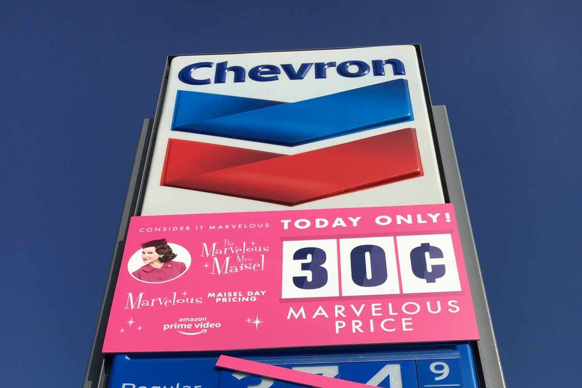 Amazon is selling gas for 30 cents to promote Marvelous Mrs