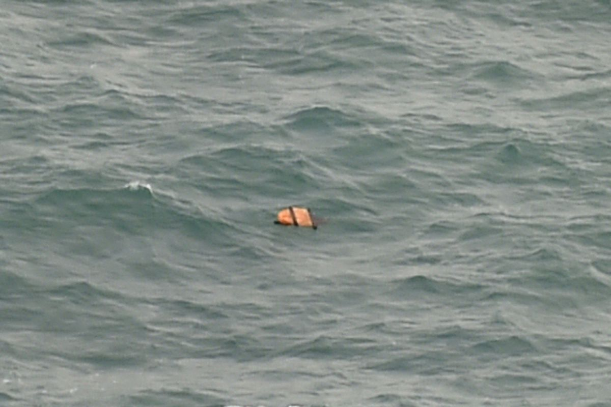Floating debris found in the area where the AirAsia flight is believed to have disappeared.