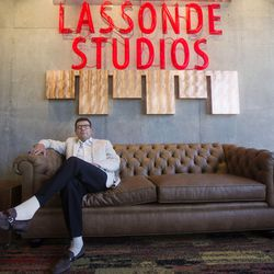 Troy D'Ambrosio, Lassonde Institute executive director, poses for a portrait in the front entrance of the Lassonde Studios on the University of Utah campus in Salt Lake City on Friday, June 23, 2017. D'Ambrosio said the area is his unofficial office and that he spends 75 percent of his time at the Lassonde Studios. The Lassonde Entrepreneur Institute is an experimental learning center that provides half a million dollars in grants.