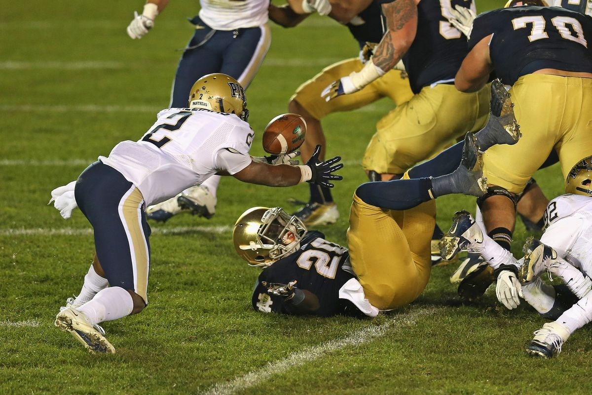 What should have been the defining moment in Pitt's game vs. the Irish...