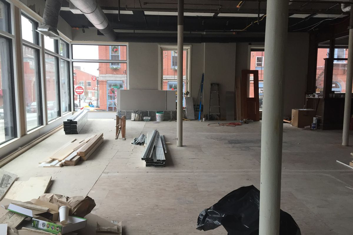 Construction at Portland Patisserie and Grand Cafe.