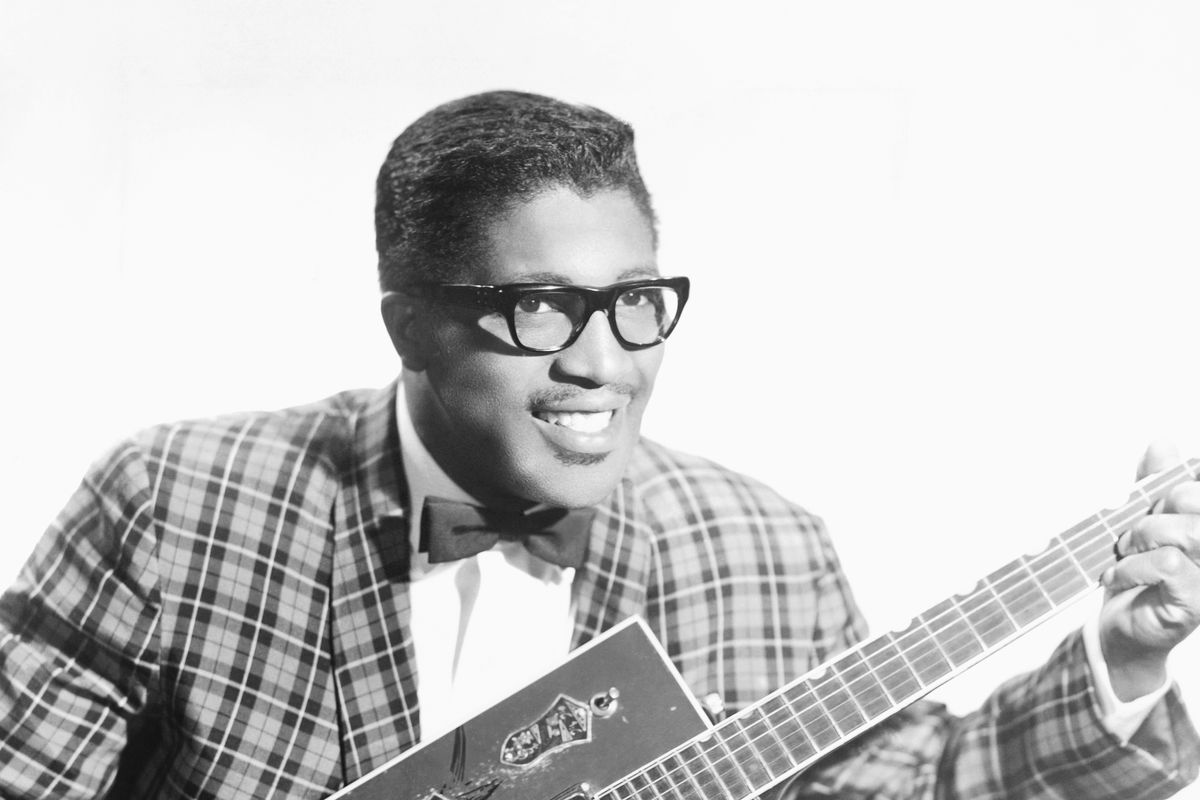 Bo Diddley Portrait With His Git Box