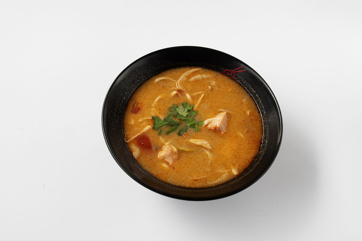 In this photo illustration, tom Yam soup - extreme spicy (...