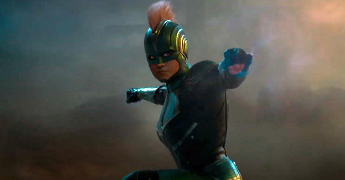 Captain Marvel S Helmet Mohawk Movie Costume Is The Result