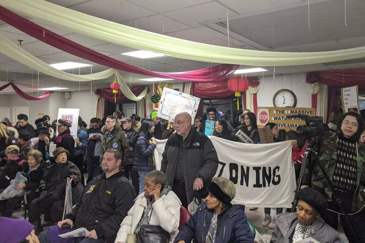 Queens residents voiced concerns about developing around Flushing Creek during a February Community Board 7 meeting.