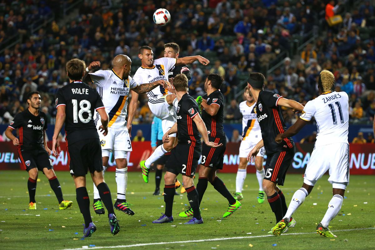 Daniel Steres scored the opening goal for LA in their 4-1 victory