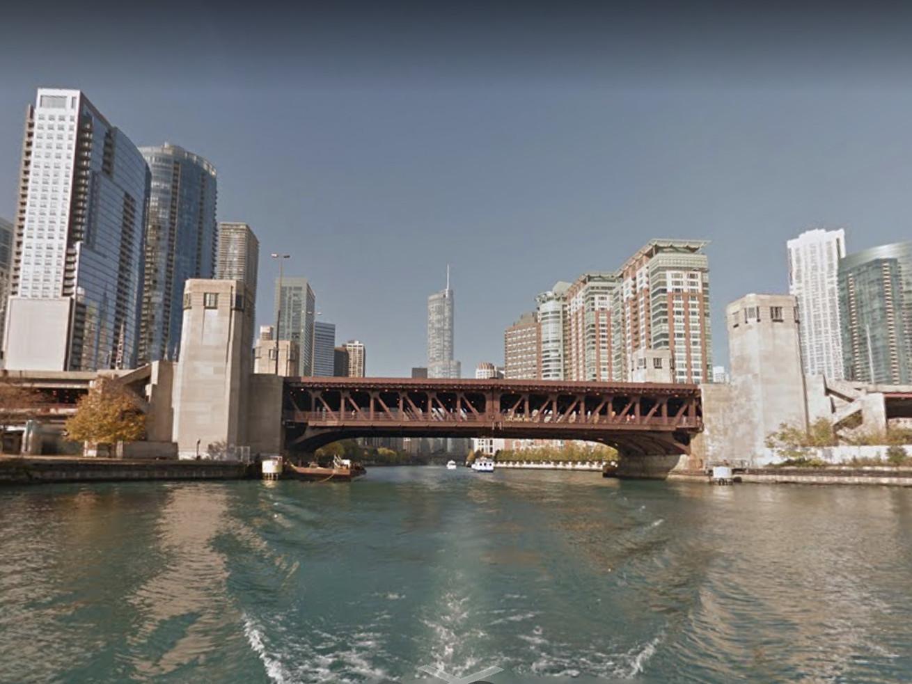 The Lake Shore Drive Bridge over the Chicago River