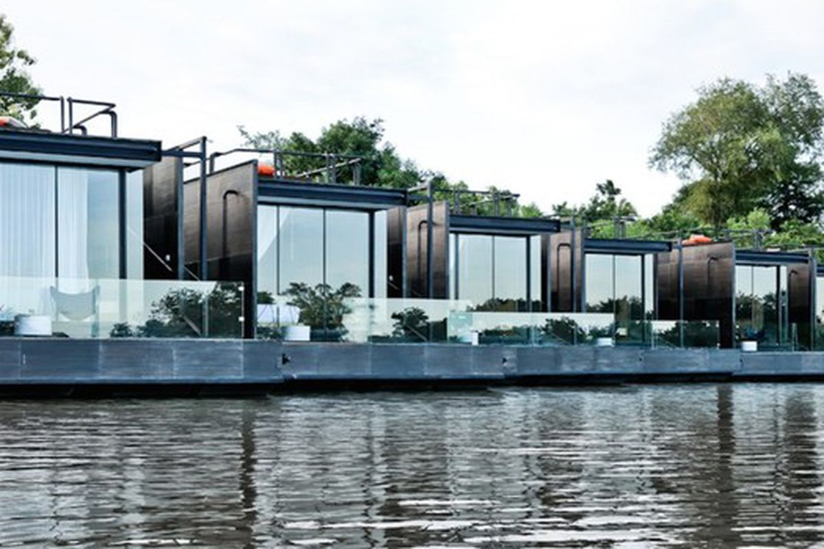 Prefab floating home offers dreamy getaway in thailand curbed - Floating prefabricated home ...