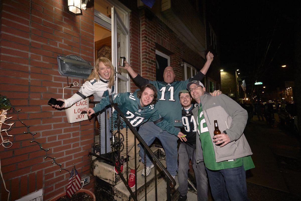 Super Bowl Sunday Street Scenes