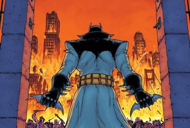 An adult Damian Wayne as Batman, on the cover of Batman Incorporated #5