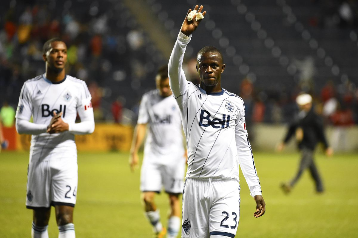 """Vancouver forward Kekutah Manneh (right) is the highest-ranked Whitecap on """"24 Under 24"""", coming on at #12."""